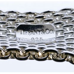 """View 3: Tiffany & Co Sterling Silver """"Somerset"""" Mesh Necklace and Bracelet"""