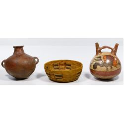 View 2: Mission Basket and Indian Pottery Assortment