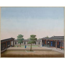View 4: Chinese (Canton School, 20th Century) Watercolors
