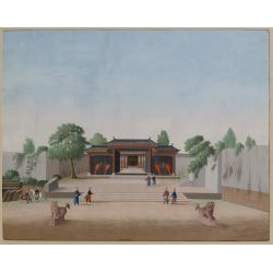 View 2: Chinese (Canton School, 20th Century) Watercolors