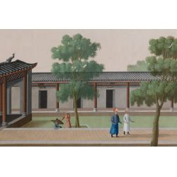 View 5: Chinese (Canton School, 20th Century) Watercolors