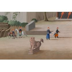 View 3: Chinese (Canton School, 20th Century) Watercolors