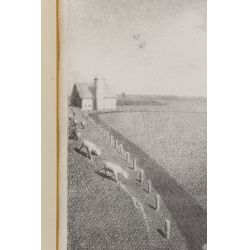 """View 3: Grant Wood (American, 1891-1942) """"In the Spring"""" Lithograph"""