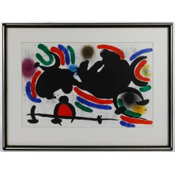 "View 2: (Attributed to) Joan Miro (Spanish, 1893-1983) ""Composition"" Lithograph"