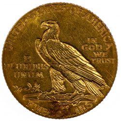 View 2: 1915 $5 Gold Unc.