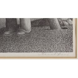 """View 4: Grant Wood (American, 1891-1942) """"In the Spring"""" Lithograph"""