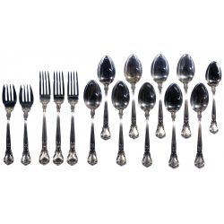 """View 6: Gorham """"English Gadroon"""" and """"Chantilly"""" Flatware Assortment"""