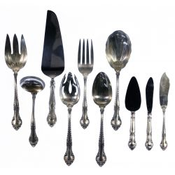 """View 5: Gorham """"English Gadroon"""" and """"Chantilly"""" Flatware Assortment"""