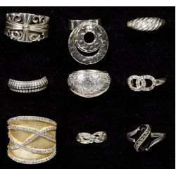 View 2: Sterling Silver Ring Assortment