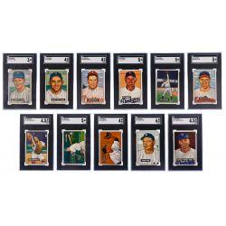 View 2: 1951 Bowman Baseball Trading Card Assortment