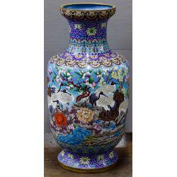View 2: Asian Cloisonne Floor Vase