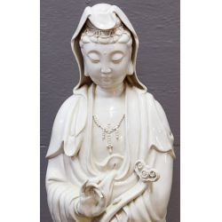 View 3: Asian Goddess Porcelain Statue