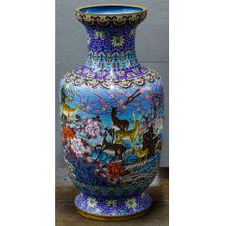 View 4: Asian Cloisonne Floor Vase