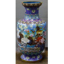 View 3: Asian Cloisonne Floor Vase