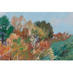 "View 4: Tom Wilder (American, 1876-1978) ""October Bluff"" Oil on Canvas"