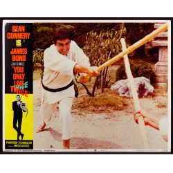 """View 6: 1967 James Bond Movie """"You Only Live Twice"""" Lobby Card Assortment"""