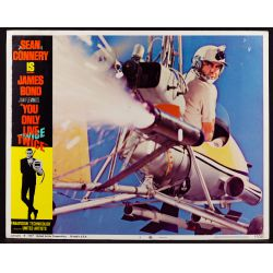 """View 4: 1967 James Bond Movie """"You Only Live Twice"""" Lobby Card Assortment"""