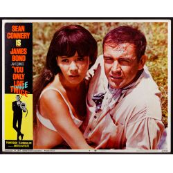 """View 5: 1967 James Bond Movie """"You Only Live Twice"""" Lobby Card Assortment"""