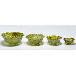 View 2: Chinese Jadeite Jade Nesting Bowl Assortment