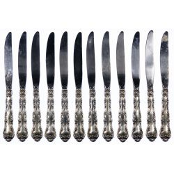 "View 2: Gorham ""Strasbourg"" Sterling Silver Flatware Assortment"