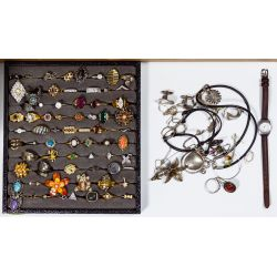 View 4: Sterling Silver, Costume Jewelry and Wrist Watch Assortment