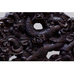 View 5: Chinese Victorian Carved Wood Throne Bench