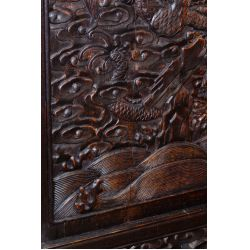View 7: Chinese Victorian Carved Wood Throne Bench
