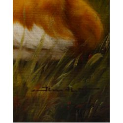 View 4: Jim Hutt (American, 20th Century) Brittany Spaniel Oil on Canvas