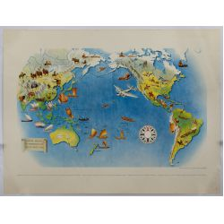 View 6: Miguel Covarrubias (Mexican, 1904-1957) Pageant of the Pacific Maps