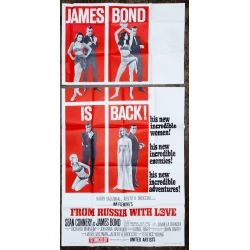 """View 2: James Bond Movie """"From Russia With Love"""" Theater Poster"""