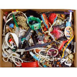 View 3: Sterling Silver, Costume Jewelry and Wrist Watch Assortment