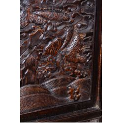 View 8: Chinese Victorian Carved Wood Throne Bench