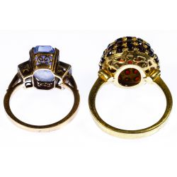 View 3: 18k Gold and 14k Gold Rings
