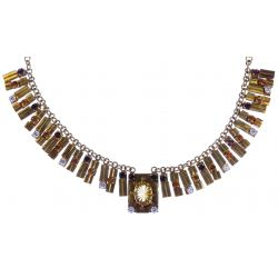 View 3: 18k / 14k Gold and Gemstone Necklace