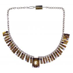 View 2: 18k / 14k Gold and Gemstone Necklace