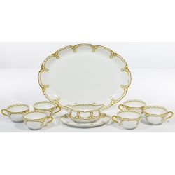 View 2: Limoges Haviland Scalloped Holly China Service