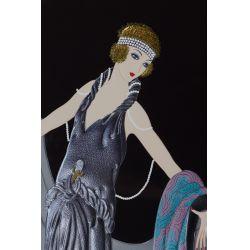 "View 2: Erte (Romain de Tirtoff) (Russian / French, 1892-1990) ""Gala"" Embossed Serigraph"