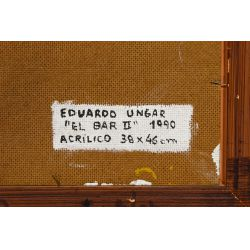 "View 7: Eduardo Ungar (Argentine, b.1947) ""El Bar II"" Acrylic on Masonite"