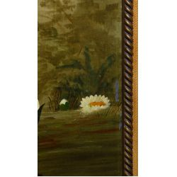 """View 6: Unknown Artist (American, 19th Century) """"Water Lilies"""" Oil on Canvas"""
