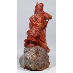 View 2: Chinese Jadeite Jade Guan Gong Yu Statue