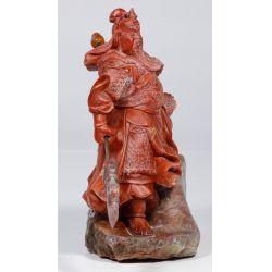 View 4: Chinese Jadeite Jade Guan Gong Yu Statue