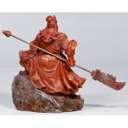 View 3: Chinese Jadeite Jade Guan Gong Yu Statue