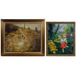 View 5: Unknown Artist (European, 20th Century) Oil on Canvas Landscape