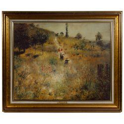 View 6: Unknown Artist (European, 20th Century) Oil on Canvas Landscape