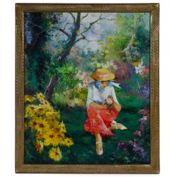 View 7: Unknown Artist (European, 20th Century) Oil on Canvas Landscape