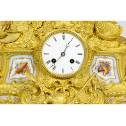 View 2: French Gilt and Ormulu Mantel Clock