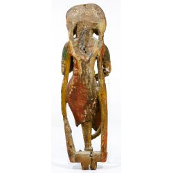 View 3: Gujarati Painted Bracket Figure