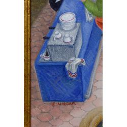 "View 4: Eduardo Ungar (Argentine, b.1947) ""El Bar II"" Acrylic on Masonite"