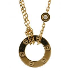 """View 3: Cartier 18k Yellow Gold and Diamond """"Love"""" Necklace"""