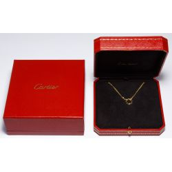 "View 4: Cartier 18k Yellow Gold and Diamond ""Love"" Necklace"